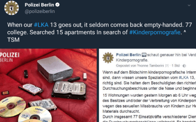 LKA Berlin Raids 15 Houses in 'Child Porn' Bust
