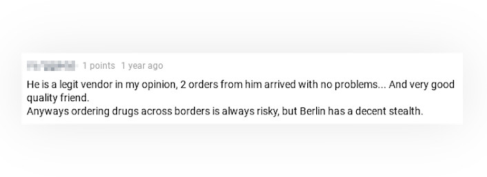 A Positive Review of BerlinMannschaft from a User on Dread