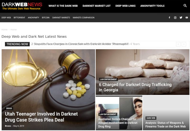 Darkwebnews.com Homepage