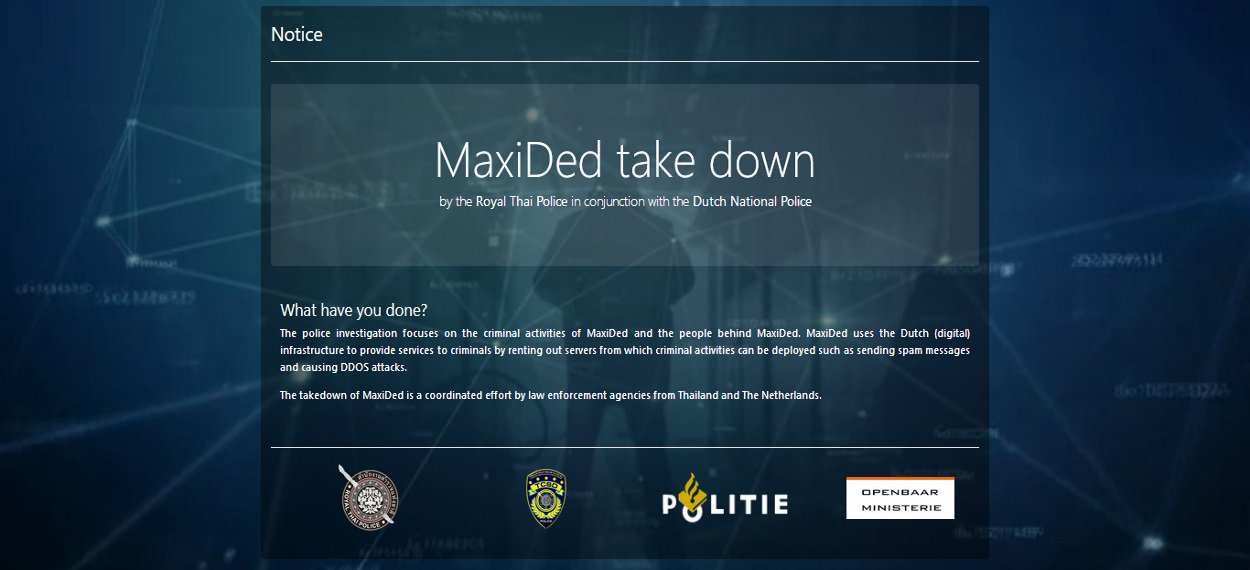 Maxided Takedown Notice