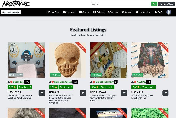 Nightmare Market Enters Maintenance Mode Ahead of Design Overhaul