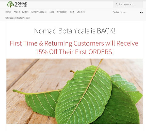 "a picture of Kratom Seller ""Nomad Botanicals"" Sentenced to Two Years in Prison"