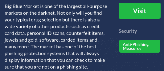 DNStats has a glowing description of Big Blue Market