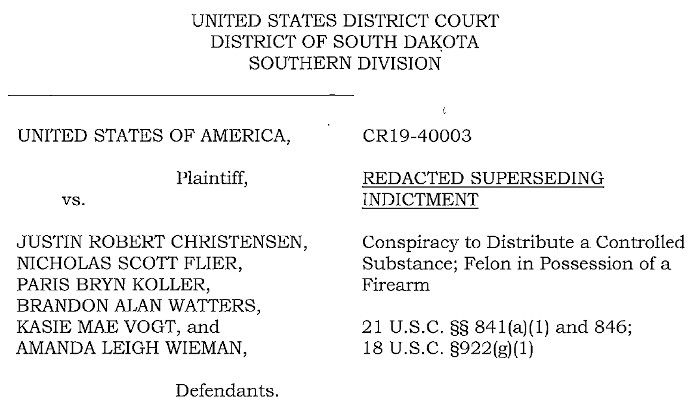 A List of Defendants in One of the Superseding Indictments