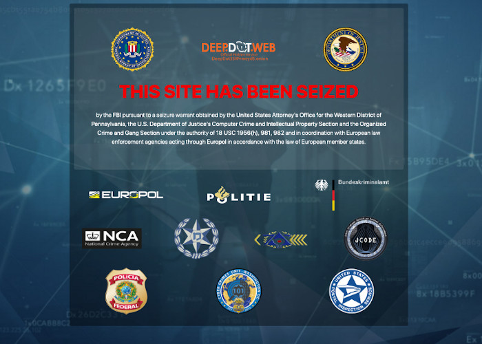 a picture of DOJ Announces DeepDotWeb Seizure