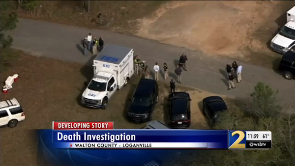 An Aerial Picture of Law Enforcement at the Scene of the Homicide | Source: Fox 5 Atlanta