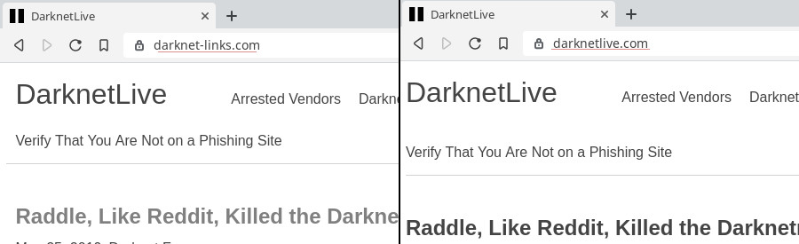 A Warning About Darkweb Market Phishing Sites - DarknetLive