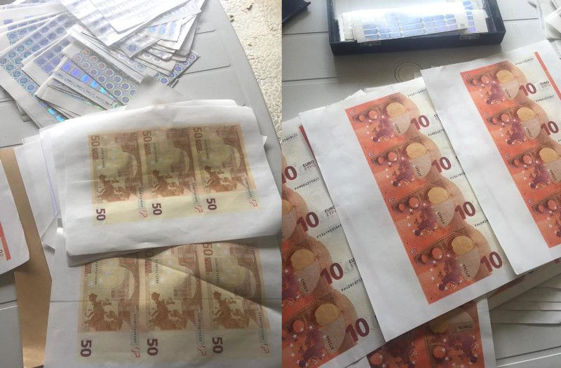 Pictures of Counterfeit Euros from the Operation | Credit: Europol