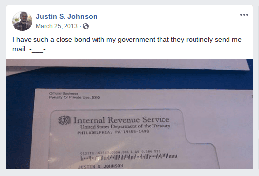 Johnson Worked for FEMA According to His Facebook and LinkedIn Profiles