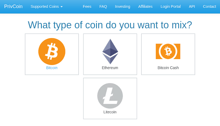 PrivCoin Homepage