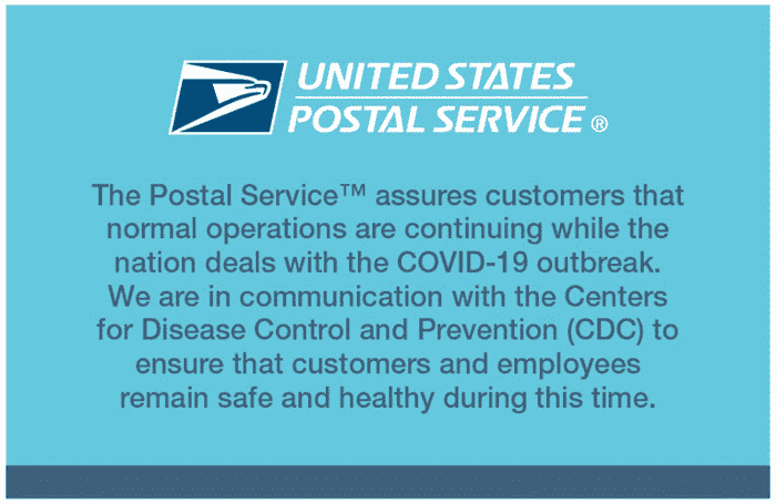 The USPS assured customers that their mail would still arrive