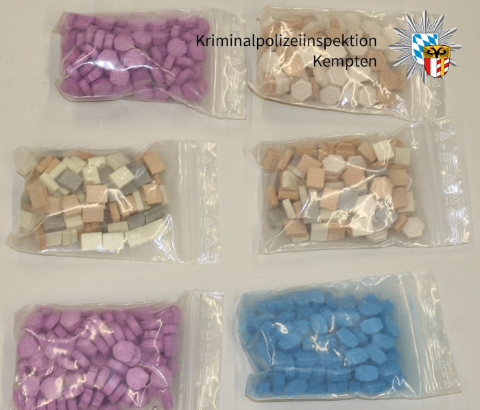 A picture of Ecstasy pills seized during the apartment search