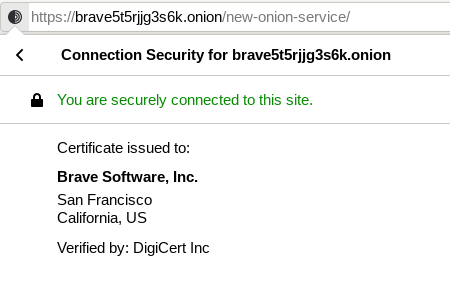 A picture of At one time, DigiCert was the only provider of SSL certificates for .onion addresses