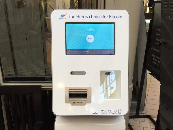 A picture of A functioning HeroCoin ATM