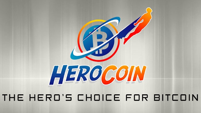 A picture of The HeroCoin logo displayed on the comapny's ATMs and social media profiles