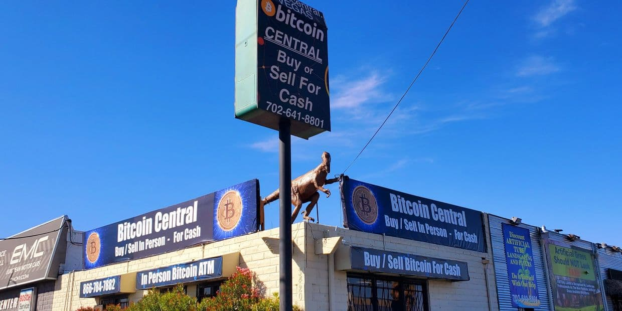 A picture of BitLiquid, in Nevada, is located inside Bitcoin Central Las Vegas.