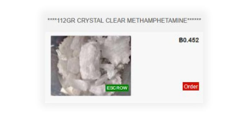 A picture of A picture of a methamphetamine listing on Rawjack2's profile on Dream.