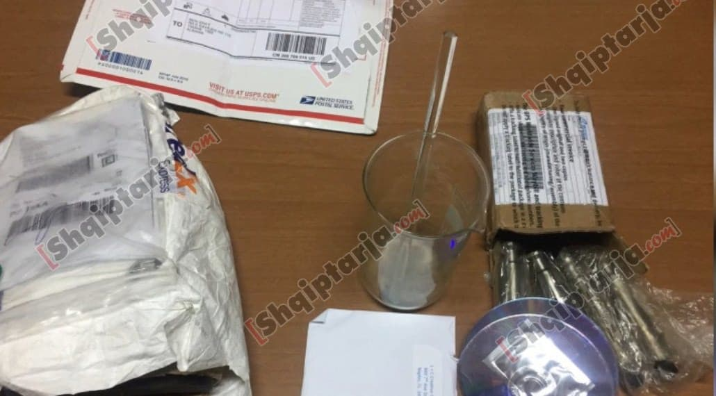 A picture of Items seized at Isaku's apartment in Albania | shqiptarja.com