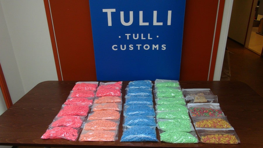 A picture of Tulli seized almost 19,000 ecstasy pills in one raid.