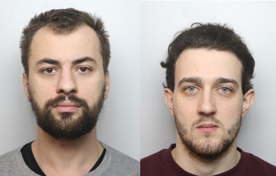 A picture of The mugshots for Hmelnicenko and Cvirkovics