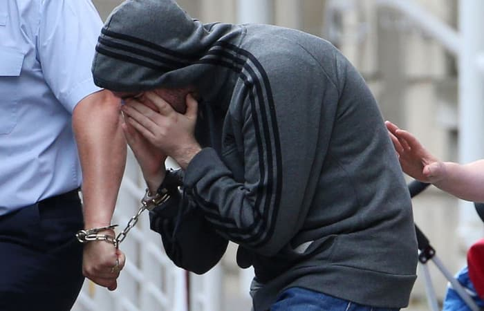 A picture of Marques leaving a High Court in Dublin after an extradition hearing