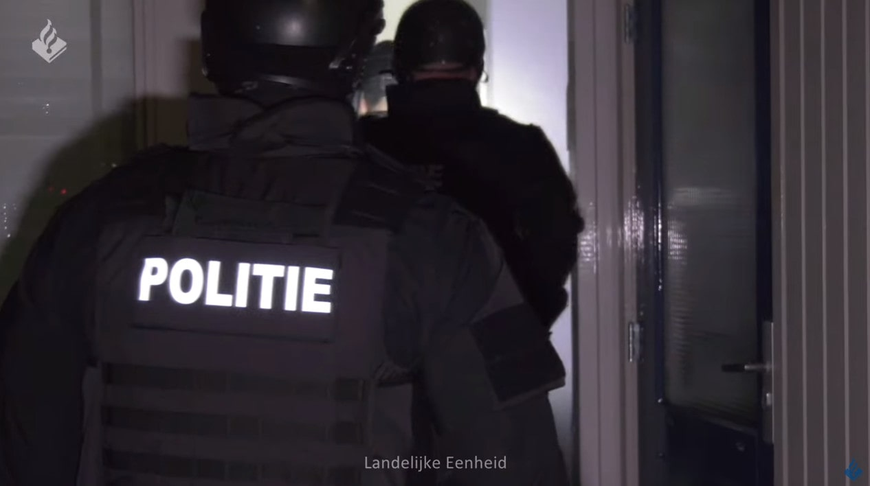 A picture of Police arrested all six suspects as part of a single operation.