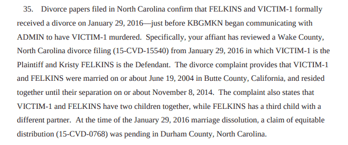 A picture of Investigators used publicly available divorce records to confirm identities