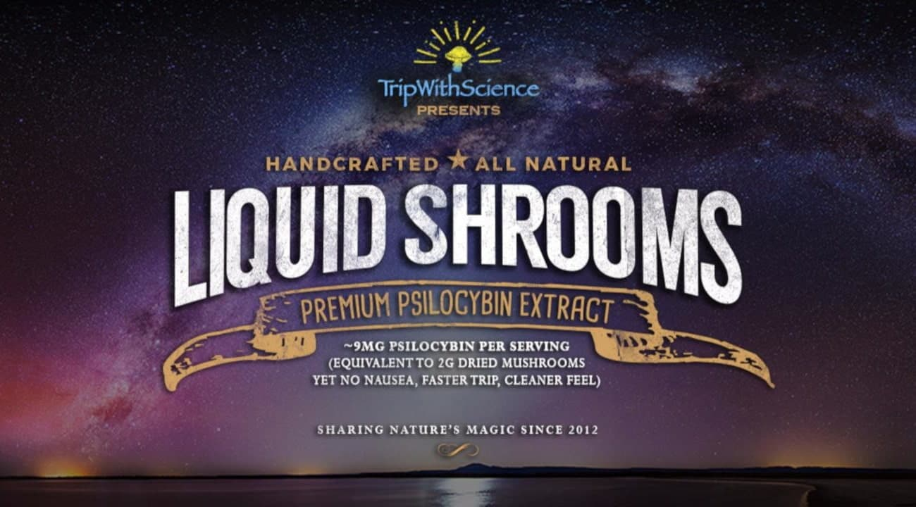 A picture of TWS advertised 'all natural' liquid shrooms.