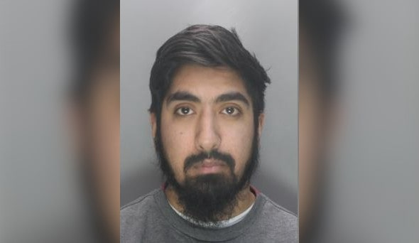 A picture of Humza's booking photo | ERSOU
