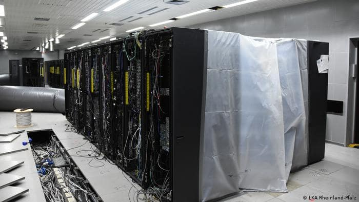 A picture of Cyberbunker owned hundreds of physical servers